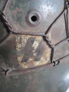 Chicken wire helmet